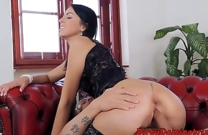 Glamcore eurobabe buttfucked coupled with facialized