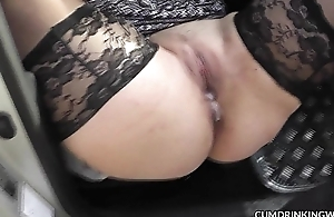 Slutwife fucked off out of one's mind strangers back her car