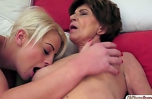 Teen Anastasia Blonde tasting an old pussy and gets ruptured