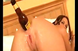 Girl anal masturbate with alcoholic drink and swatter - SWEETGIRLCAM.COM