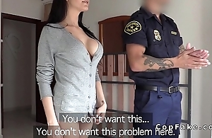 Big boobs tyro fucks fake cop in her flat