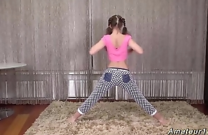 cute flexi teen distention lesson