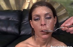 Pornstar Brook Ultra chokes hard on cock on tap face fucking then does anal