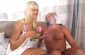 Chary Hug and her a much older lover - Grandpas Fuck Teens