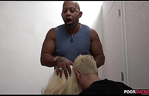 Cuckold heeding his Hotwife Holly Heart Taking A Huge Black Cockck