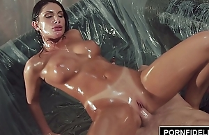 PORNFIDELITY August Ames Oiled Yon and Fucked