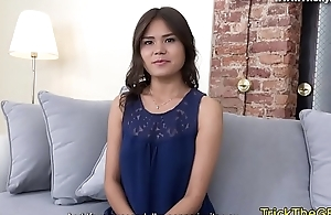 Tricked gf fucked hard literally