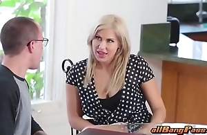 Blonde MILF has a threesome with coupling