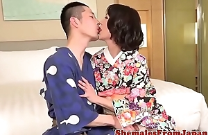 Asian newhalf fucks go first after getting fucked