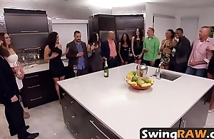 Swinger couples drinking reality show amateurs