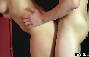 Adorable czech girl gets teased in the supermarket added to pounded in pov