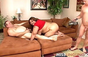 Broad in the beam Knocker Asian BBW Banged by Hubbys Fat Friends