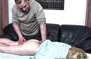 Pussy Massage Turns To A Hard Coupled with Tough Fucking Session
