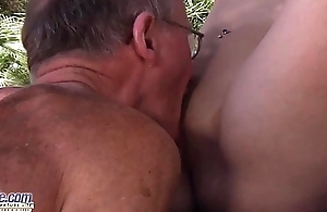 Sexy young babe fucked by an age-old man she swallows his cum after fucking