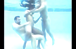 Young girl gets fucked under water by two men all round Train!