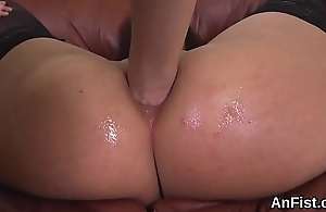 Hot lesbian beauties are gaping and fisting anal holes