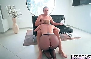 Big Butt Girl (Brooklyn Chase) Get Oiled All Over And Hard Anal Nailed clip-13