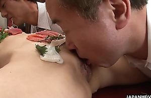 Asian babe is fucked like a salad